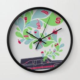 Hauntin' Dirty Wall Clock