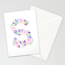 S-ay It Isn't So - Letter S purples Stationery Cards