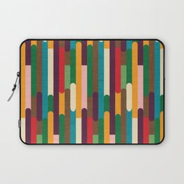 Retro Color Block Popsicle Sticks Laptop Sleeve