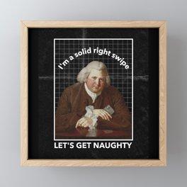 Let's get Naughty solid right swipe Framed Mini Art Print