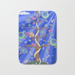 Mandala Tree of Life and Love Bath Mat