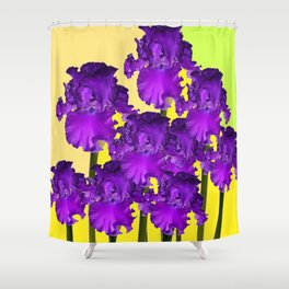 Yellows Contemporary Purple Iris Garden Art Shower Curtain