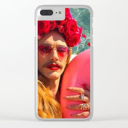 Selfies By The Pool James Franco Fan Art Clear iPhone Case