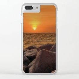 Beautiful Golden Sunset Clear iPhone Case