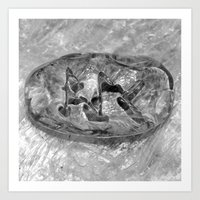 Kano Eihwaz Ansuz Runestone Art Print