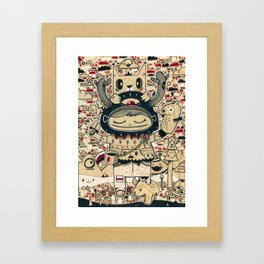 the keeper of the forest Framed Art Print