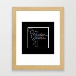 HRT Myself Today Alt 2 Framed Art Print