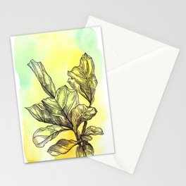Plant Series: Green Stationery Cards