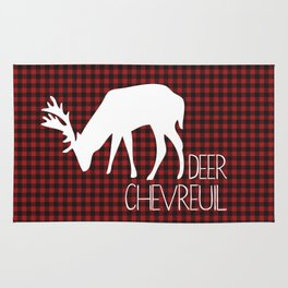 Lumberjack Plaid Deer Rug
