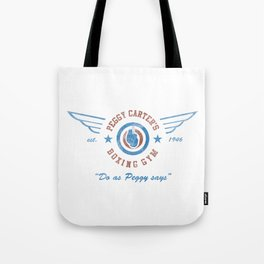 Peggy Carter's Boxing Gym Tote Bag