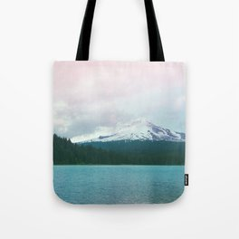Mountain Lake - Nature Photography - Turquoise Teal Pink Tote Bag