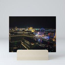 Las Vegas Strip   Night Time View   Architecture Photography Mini Art Print