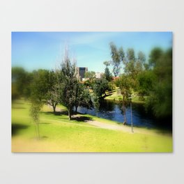 Adelaide Torrens River and CBD Canvas Print
