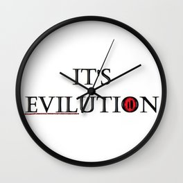 its evilution Wall Clock