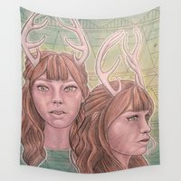 bambi Wall Tapestries featuring Bambi by Warm Honey