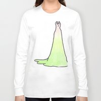 slytherin Long Sleeve T-shirts featuring Slytherin Dress by AlwaysRiverose