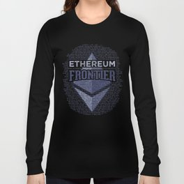 Ethereum Frontier Grunge original on dark blue Long Sleeve T-shirt