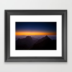 Horizont Shine ||| Framed Art Print
