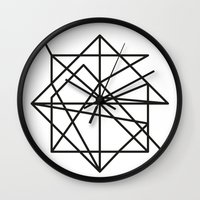 the wire Wall Clocks featuring Wire by FLATOWL