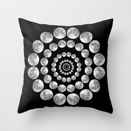 Moon Mandala Throw Pillow
