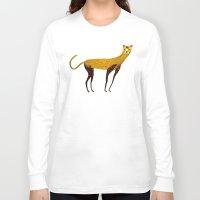 cheetah Long Sleeve T-shirts featuring Cheetah  by Ashley Percival illustration