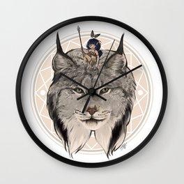 Wild Child - Lynx Wall Clock