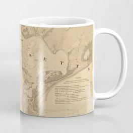 Vintage Map of Hyannis Harbor MA (1850) Coffee Mug