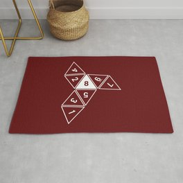 Red Unrolled D8 Rug