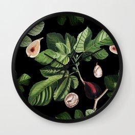 Figs Black Wall Clock