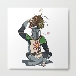 Solaire and maggot Metal Print