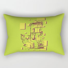 Have a Cup of Green Tea  Rectangular Pillow
