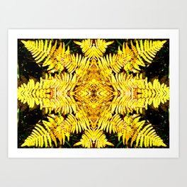 Fern Yellow Art Print