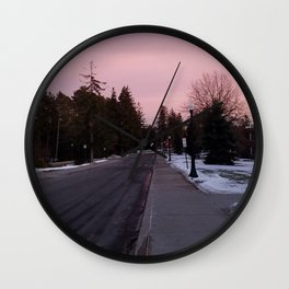 Sunset in the Lo Wall Clock