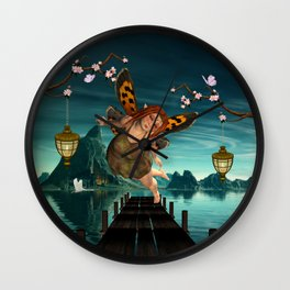 Cute flying fairy Wall Clock