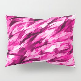 Hot Pink Designer Camo Pillow Sham