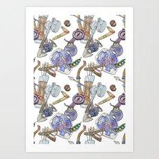Ocarina Patterns Art Print
