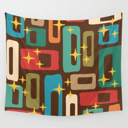 Retro Mid Century Modern Abstract Pattern 222 Wall Tapestry