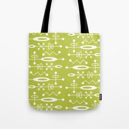 Mid Century Modern Radioactive Surfer 251 Chartreuse Tote Bag