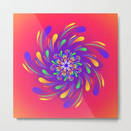 Spiral Flower by #Bizzartino Metal Print