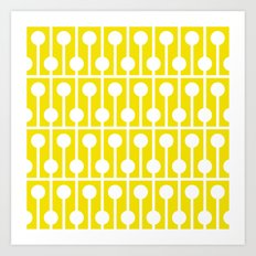 Geometric Pattern #178 (yellow) Art Print