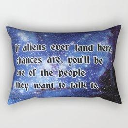If aliens ever land here.. Rectangular Pillow
