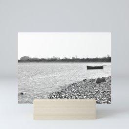 Lakescape Monochrome Mini Art Print