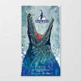 Jurassic World (2015) poster art Canvas Print
