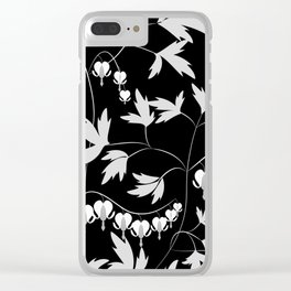 White black floral pattern Clear iPhone Case