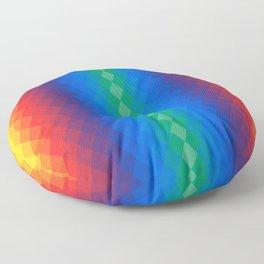 Rainbow rombs Floor Pillow