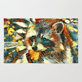 AnimalArt_Raccoon_20170601_by_JAMColorsSpecial Rug