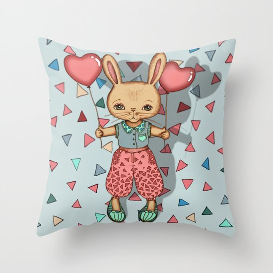 SomeBunny Loves You Throw Pillow