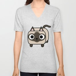 Cat Loaf - Siamese Kitty with Crossed Eyes Unisex V-Neck