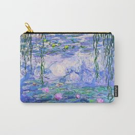 Claude Monet Water Lilies French Impressionist Art Carry-All Pouch