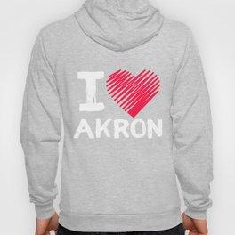 I Love Akron Ohio Tourist Gift Hoody